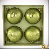 Набор стеклянных ёлочных шаров  Бургундия.