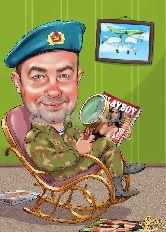 Шарж для военного ВДВ
