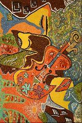 Картина из янтаря Скрипка