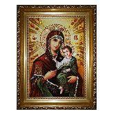 Икона из янтаря Смоленская Божией Матери
