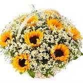 """Корзина с цветами """"Солнечное Счастье"""""""