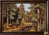 Картина из янтаря Сосновый лес