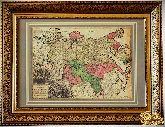 Старинная карта империи Великой России 1728 года