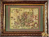 Старинная карта новой Европы 1606 года