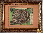 Старинная карта Москвы 1610 года