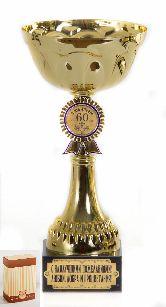 Кубок подарочный Чаша с эмблемой С юбилеем 60 лет