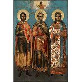 Цена иконы Св.мч.Гурий, Самон и Авив ГСА-01-7 12х8