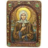 Святая Блаженная Ксения Петербургская, Живописная икона, 21 Х29