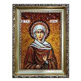 Святая Елисавета Праведная икона из янтаря