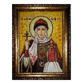 Святая княгиня Ольга икона из янтаря