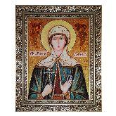 Святая Лидия  икона из янтаря