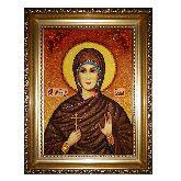Святая мученица Алла Готфская икона из янтаря