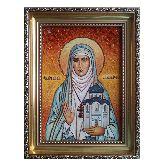 Святая мученица Елисавета (Елизавета) из янтаря