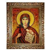 Святая мученица Наталия икона из янтаря
