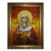 Святая мученица Ника Коринфская икона из янтаря