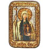 Святая Равноапостольная Нина, просветительница Грузии, Настольная икона, 10 Х15