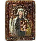 Святая Равноапостольная Нина, просветительница Грузии, Живописная икона, 21 Х29
