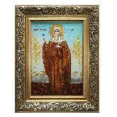 Святая великомученица Дарья Римская икона из янтаря