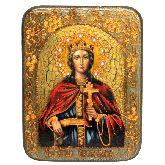 Святая великомученица Екатерина, Подарочная икона, 15 Х20