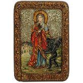 Святая великомученица Марина (Маргарита) Антиохийская, Настольная икона, 10 Х15
