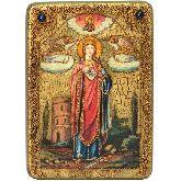 Святая великомученица Варвара Илиопольская, Аналойная икона, 21 Х29