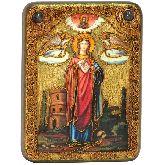 Святая великомученица Варвара Илиопольская, Подарочная икона, 15 Х20