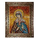 Святая Виктория Никомидийская икона из янтаря