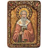 Святитель Григорий Богослов, Живописная икона, 21 Х29