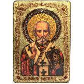 Святитель Николай, архиепископ Мир Ликийский (Мирликийский), чудотворец, Большая икона, 29 Х42