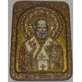 Святитель Николай, архиепископ Мир Ликийский (Мирликийский), чудотворец, Живописная икона, 21 Х29