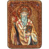 Святитель Спиридон Тримифунтский, Аналойная икона, 21 Х29