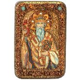Святитель Спиридон Тримифунтский, Настольная икона, 10 Х15