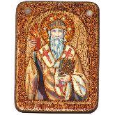 Святитель Спиридон Тримифунтский, Подарочная икона, 15 Х20