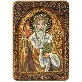 Святитель Спиридон Тримифунтский, Живописная икона, 21 Х29