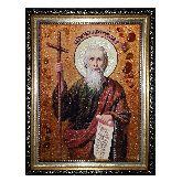 Святой Апостол Андрей Первозванный янтарная икона