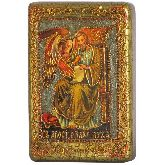 Святой апостол и евангелист Лука, Настольная икона, 10 Х15