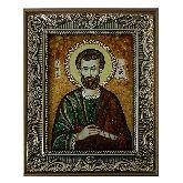 Святой Апостол Иаков Алфеев икона из янтаря