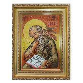 Святой апостол Иоанн (Иван) Богослов из янтаря