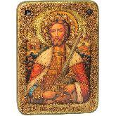 Святой благоверный князь Александр Невский, Аналойная икона, 21 Х29