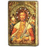 Святой благоверный князь Александр Невский, Настольная икона, 10 Х15