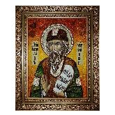 Святой Ярослав Муромский икона из янтаря