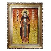 Святой князь Даниил икона из янтаря