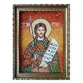 Святой мученик Гордий икона с янтаря