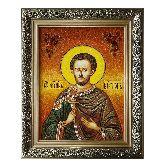 Святой мученик Виктор Дамасский икона из янтаря