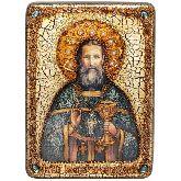 Святой праведный Иоанн Кронштадтский, Аналойная икона, 21 Х29
