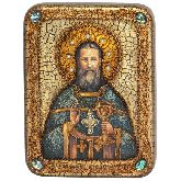 Святой праведный Иоанн Кронштадтский, Подарочная икона, 15 Х20