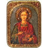 Святой Великомученик и Целитель Пантелеимон, Аналойная икона, 21 Х29