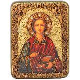 Святой Великомученик и Целитель Пантелеимон, Подарочная икона, 15 Х20
