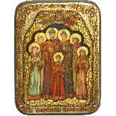 Святые царственные страстотерпцы, Подарочная икона, 15 Х20