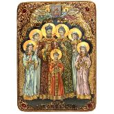 Святые царственные страстотерпцы, Живописная икона, 29 Х42